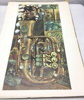 1966 SIEGFRIED REINHARDT LITHOGRAPH ABSTRACT ART PRINT POSTER Universal Printing