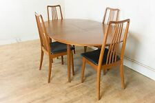 Vintage Retro Teak Extending Danish Dining Table and 4 Chairs - Mogens Kold