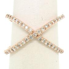 Nuevo 14k Oro Rosa 0.50 Quilates 45 Diamante Brillante Redondo Simple X Ex Cruz