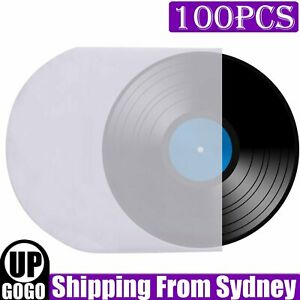"100pcs Sleeves Inner LP Music Durable for 12"" Vinyl Record Plastic Record Cover"