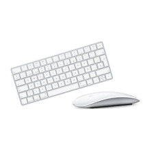 Apple Magic Keyboard 2 Silver A1644 and Magic Mouse 2 A1657 White Set Combo