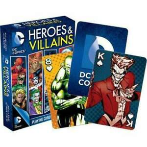 DC Comics Heroes & Villains - Playing Cards by Aquarius