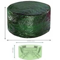 Faboer Large Round Outdoor Garden Patio Table Chairs Set Furniture Cover Green L