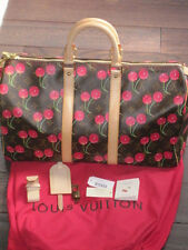 Louis Vuitton Murakami Cerise Cherry Keepall 45 Monogram Travel Tote & Dustbag