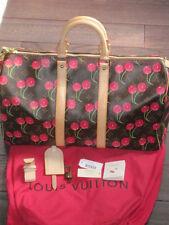 Louis Vuitton Murakami Cerise Cherry Keepall 45 Monogram Travel Tote & Dustbag