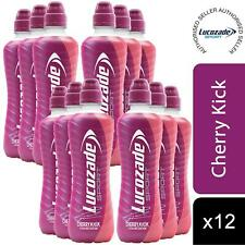 12 Pack of Lucozade Cherry Kick Isotonic Sports Drink, 500ml