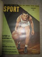 Vtg HC book, bound issues of Sport Magazine, January - June 1947