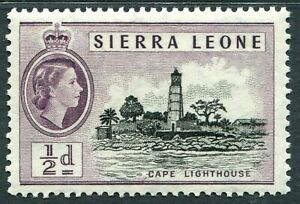 SIERRA LEONE 1956-61 SG210 ½d. CAPE LIGHTHOUSE  -  MNH