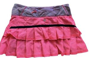 LULULEMON Run Pace Setter Skirt sz 4 Flash Floral Jacquard/ Wee Are From Space