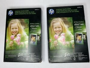 Lot of 2 HP Professional Photo Paper 100 Sheets Per Package 4x6 Glossy Q5440A