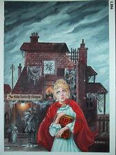Originalzeichnung Titelbild Horror Grusel  Romanheft v. Künstler Nikolai Lutohin