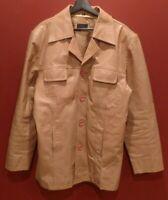 Rare vintage leather pea coat by Poco Loco