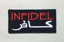 Infidel Arabic Writing Symbol Patch velcr O Style Hook Backing Morale Military