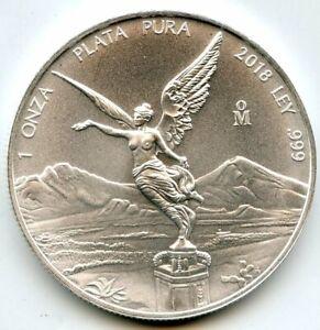 2018 Mexico Libertad 999 Silver 1 oz Coin Onza BU Plata Pura Mexican ounce BQ649