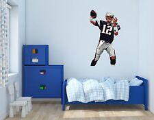 Patriots Tom Brady Mvp Wall Decal Vinyl Sticker For Room Home Bedroom