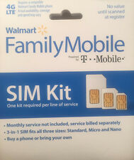 Family Mobile 3-in-1: Nano, Micro, Standard Sim Card Kit