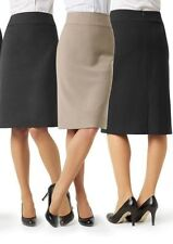 Below Knee A-Line Solid Skirts for Women