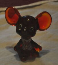 FENTON RED MOUSE HAND PAINTED & SIGNED BY D. WRIGHT
