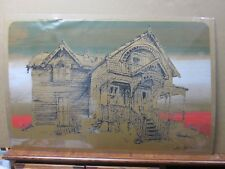 Vintage Black Light Poster Earl Newman Architectural 1970's  Inv#G47