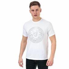 Men's True Religion Branded Logo Crew Neck Cotton T-Shirt in White