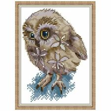 Owl DIY Handmade Needlework Counted 14CT Printed Cross Stitch Embroidery Kit Set