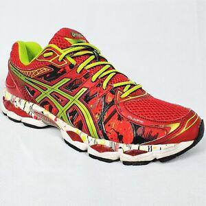 Size 11 US men's Asics GEL NIMBUS 16 NYC Marathon Red Green  Dead Stock