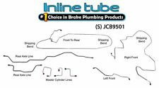 Fits 1995-01 Jeep Cherokee Xj Non Abs Preformed Brake Line kit Stainless Steel