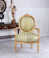 Medaillon Sessel Antik Armlehnsessel Rokoko Stuhl Armlehnstuhl Polsterstuhl