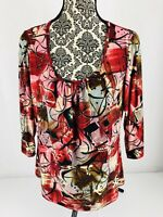 Investments Women's Multi-Colored XL Blouse