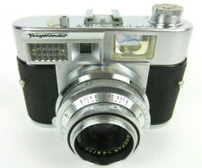 Vtg Voigtlander Vitomatic II with 50mm F2.8 Color-Skopar Lens Rangefinder Camera