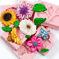 Floral Silicone Mold Set Flexible Easy to Use Food Safe and Craft Molds  (232)