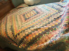 Vintage+1930s-1940s+Homemade+Hand+Pieced+%26+Quilted+Patchwork+Feedsack+Quilt
