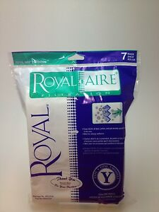 7 Genuine Royal Vacuum Bags Fit Pro Series CR50005, UR30075, UR30090 Type Y