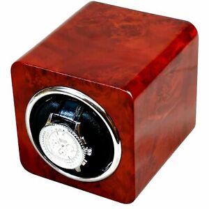 Single Automatic Laminated Makah Burlwood Watch Winder