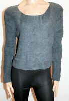 Valleygirl Brand Grey Long Sleeve Chunky Knit Top Size M BNWT #Ti04