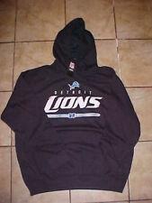 Official NFL Detroit Lions Football Black Team Pullover Sweatshirt Hoodie XL