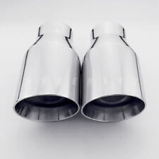 "2PCS 3.5"" Dual Wall Exhaust Tip 2.25"" in 7"" Long for BMW E92 335 335i 335xi 335d"