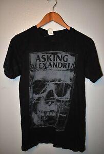 Asking Alexandria band tee skull shirt size small hardcore metalcore
