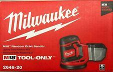 Milwaukee 2648-20 M18 Lijadora Orbital (Bare herramienta) Nueva En Caja Envío 2 día