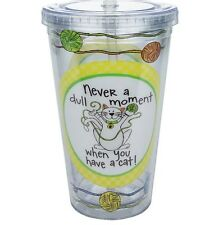 Life With A Cat Insulated Travel Cup With Straw - Cat Lover Cup - Cypress Home