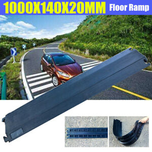 1m Durable Wire Cover Floor Cable Cord Road Ramp Protector Safety Rubber Outdoor