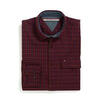 New Tommy Hilfiger Mens Longsleeve Custom Fit Button Shirt Red Plaid S M L NWT