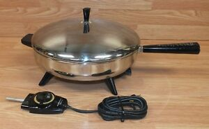 """Genuine Farberware (310-A) Perfect Heat 12"""" (inch) Electric Fry Pan With Lid!"""