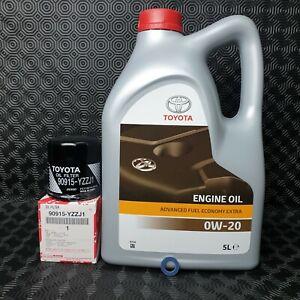 GENUINE TOYOTA YARIS HYBRID 2011- 2014 ENGINE OIL SUMP PLUG WASHER & OIL FILTER