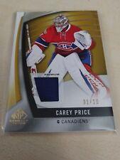 Carey Price 2017-18 SP Game Used Gold Spectrum Relic #1/10 Canadiens