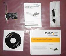 2 StarTech 1 Port PCI Express PCI-E X1 Gigabit Network Cards ST1000SPEX2 Lo / Hi