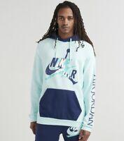 NWT Men's Jordan Jumpman Classics Fleece Pullover Hoodie Teal/Navy Sz XL XXL $75