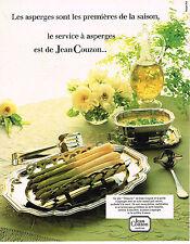 PUBLICITE ADVERTISING  1982   JEAN COUZON  art de la table service à asperges