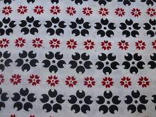 Japanese Cotton Yukata Fabric blue and white 407r