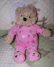 "Galerie Pink Plush Hershey's Kisses Stuffed Teddy Bear Toy 10"" EUC"